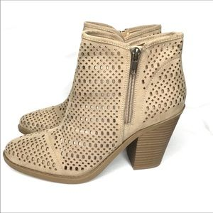 Esprit Kay Tan Ankle Boots Booties Size 8